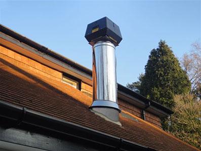 chimney fan on steel chimney